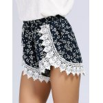 Lace Inset Floral Print Shorts deal