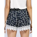 Lace Inset Floral Print Shorts for sale