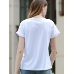 Simple Style Kiss Me Letter Print Short Sleeve Women's T-Shirt for sale