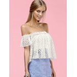 Stylish Off The Shoulder Lace Blouse For Women deal