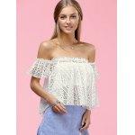 cheap Stylish Off The Shoulder Lace Blouse For Women