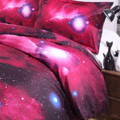 Stylish 3D Red Night Sky Pattern Duvet Cover 4 PCS Bedding ( Without Comforter )Bedding<br>Stylish 3D Red Night Sky Pattern Duvet Cover 4 PCS Bedding ( Without Comforter )<br><br>Bedding Sets Type: Duvet Cover Set(without Comforter)<br>Crafts: Reactive Print<br>Duvet Cover Size: W79*L90(W200*L230cm)<br>Flat Sheet Size: W91*L91(W230*L230cm)<br>Material: Polyester<br>Package Contents: 1 x Duvet Cover 1 x Flat Sheet 2 x Shams<br>Patterns : 3D<br>Set Quantity: 4 pieces<br>Std. Sham Size: W19*L29(W48*L74cm)<br>Weave Type: Plain<br>Weight: 1.618kg