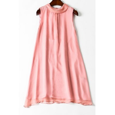 Loose Solid Color Tank Dress