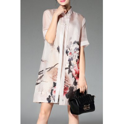 Cami Dress and Peony Print Shirt Dress Twinset