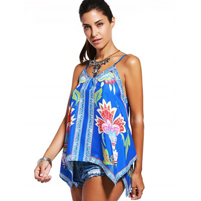 Charming Spaghetti Strap Printed Asymmetrical Womens Tank TopTank Tops<br>Charming Spaghetti Strap Printed Asymmetrical Womens Tank Top<br><br>Material: Polyester<br>Clothing Length: Long<br>Pattern Type: Print<br>Style: Fashion<br>Weight: 0.270kg<br>Package Contents: 1 x Tank Top