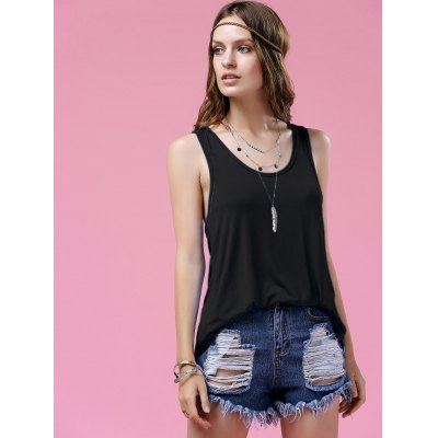 Stylish Scoop Neck Twist Back Design Womens Tank TopTank Tops<br>Stylish Scoop Neck Twist Back Design Womens Tank Top<br><br>Material: Polyester<br>Clothing Length: Long<br>Pattern Type: Solid<br>Embellishment: Hollow Out<br>Style: Fashion<br>Weight: 0.370kg<br>Package Contents: 1 x Tank Top