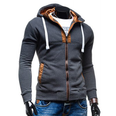 Hooded Drawstring Long Sleeve Selvedge Embellished Mens HoodieMens Hoodies &amp; Sweatshirts<br>Hooded Drawstring Long Sleeve Selvedge Embellished Mens Hoodie<br><br>Material: Cotton, Polyester<br>Package Contents: 1 x Hoodie<br>Shirt Length: Regular<br>Sleeve Length: Full<br>Style: Fashion<br>Weight: 0.380kg