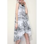 High Low Print A Line Dress deal