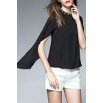 Beaded Chiffon Cape Blouse deal