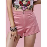 Stylish Zipper Fly Solid Color Pocket Design Women's Shorts deal
