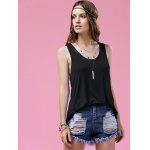 cheap Stylish Scoop Neck Twist Back Design Women's Tank Top