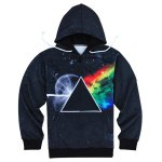 Modish Slimming Hooded 3D Universe Print Long Sleeve Cotton Blend Hoodie For Men