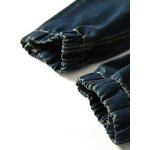 Skull Printed Distressed Jean Joggers for sale