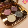 Stylish 4 Colours Smokey Eye Sparkly Diamond Eye Shadow Palette with Mirror and Brush