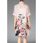 cheap Cami Dress and Peony Print Shirt Dress Twinset