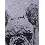 best Casual Short Sleeve Round Neck Bulldog Pattern Women's T-Shirt
