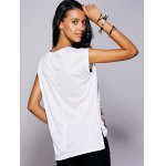 Casual Short Sleeves Print Slit T-Shirt For Women deal