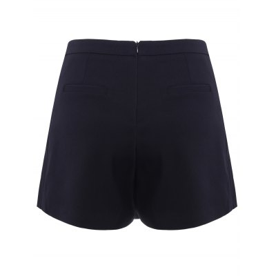 Fashionable Solid Color Asymmetric Shorts For Women