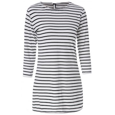 Scoop Neck Long Sleeves Striped Dress For Women