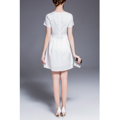 Bird Floral Print Dress in WhiteMini Dresses<br>Bird Floral Print Dress in White<br><br>Style: A Line<br>Occasion: Work<br>Material: Linen,Polyester<br>Composition: 100% Polyester<br>Dresses Length: Mini<br>Neckline: Round Collar<br>Sleeve Length: Short Sleeves<br>Pattern Type: Floral<br>With Belt: No<br>Season: Summer<br>Weight: 0.320kg<br>Package Contents: 1 x Dress