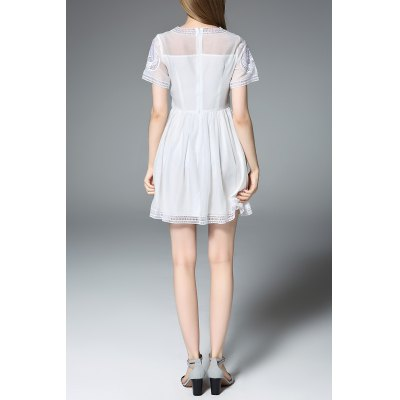 Round Neck Embroidered White Mini DressDesigner Dresses<br>Round Neck Embroidered White Mini Dress<br><br>Style: Cute<br>Occasion: Day,Evening,Prom,Work<br>Material: Polyester<br>Composition: 100% Polyester<br>Silhouette: A-Line<br>Dresses Length: Mini<br>Neckline: Round Collar<br>Sleeve Length: Short Sleeves<br>Pattern Type: Floral<br>With Belt: No<br>Season: Summer<br>Weight: 0.320kg<br>Package Contents: 1 x Dress
