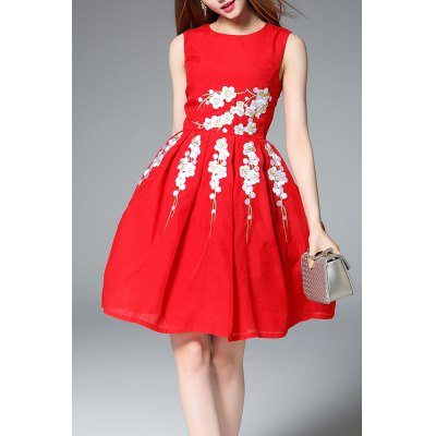 Fit and Flare Red Dress