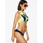 Alluring Halter Neck Letter Print Women's Two Piece Swimsuit deal