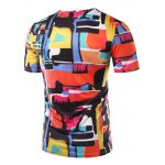 cheap Slimming Color Printing Round Collar Short Sleeves T-Shirts For Men