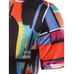 Slimming Color Printing Round Collar Short Sleeves T-Shirts For Men for sale