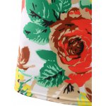 best Slimming Flower Printed Round Collar Short Sleeves T-Shirts For Men