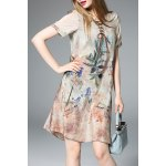 Printed Lace-Up Silk Dress deal