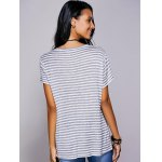 Casual Scoop Neck Striped Twisted T-Shirt For Women deal
