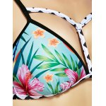 best Chic Women's Floral Print Cut Out Bikini