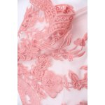 Sheer Shoulder Two Piece Dress in Pink photo