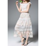 Frilled Lace Patchwork Prom Dress deal
