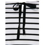 best Casual Scoop Neck Long Sleeves Striped Dress For Women