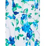 best Trendy Round Neck Floral Print Sleeveless Women's Dress