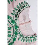 best Vintage Embroidered Sheath Dress in Pink