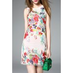 Sleeveless Floral Embroidered Mini Dress