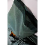 Flared Ink Painting Dress in Green photo