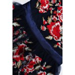 Embroidered Floral Tulle Dress in Blue photo