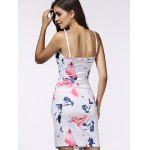 Spaghetti Strap Wrap Cutout Floral Bandage Dress for sale