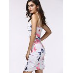 Spaghetti Strap Wrap Cutout Floral Bandage Dress deal