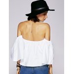Charming Off The Shoulder Ruffled Women's Blouse for sale