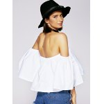 Charming Off The Shoulder Ruffled Women's Blouse deal