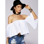 Charming Off The Shoulder Ruffled Women's Blouse