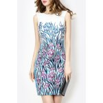 Slimming Embroidered Pencil Dress