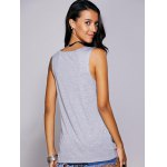 Casual Scoop Neck Printed Studded Tee For Women deal
