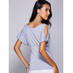 Casual Scoop Neck Cold Shouder T-Shirt For Women deal