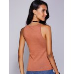 cheap Casual Round Neck Solid Color Tank Top For Women
